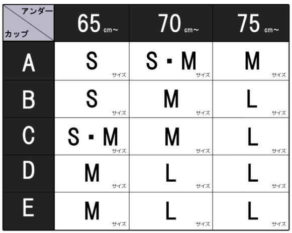 レスタリアージュサイズ表