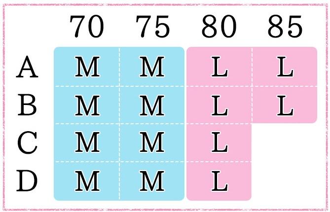 三恵ナイトブラサイズ表