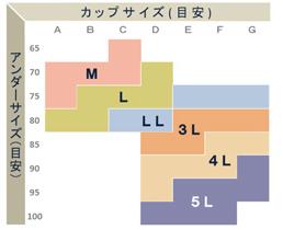 家事ブラサイズ表