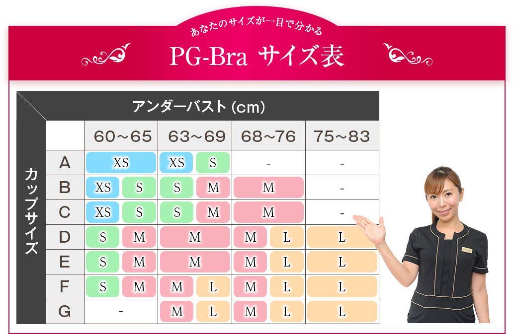 pgbraサイズ表
