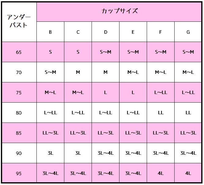 エルドシックサイズ表