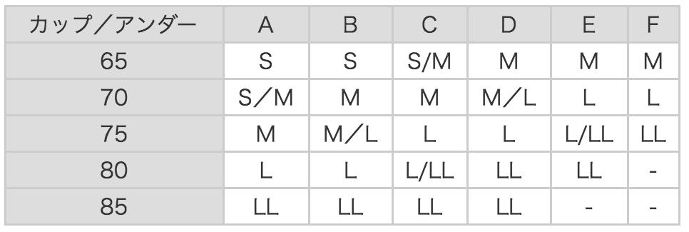 dhcサイズ表