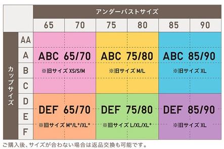 ビューティーライトサイズ表